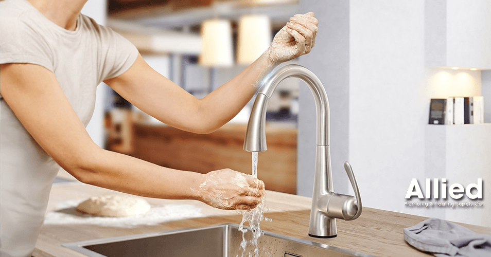 grohe faucet in use