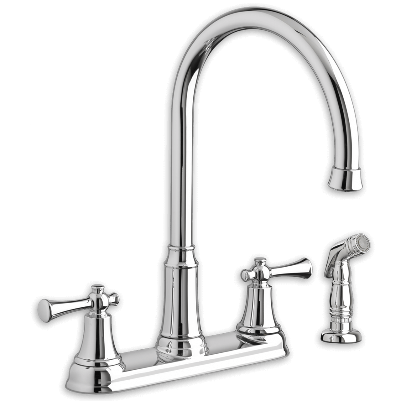 Delta Savile High Arc Kitchen Faucet With Side Spray