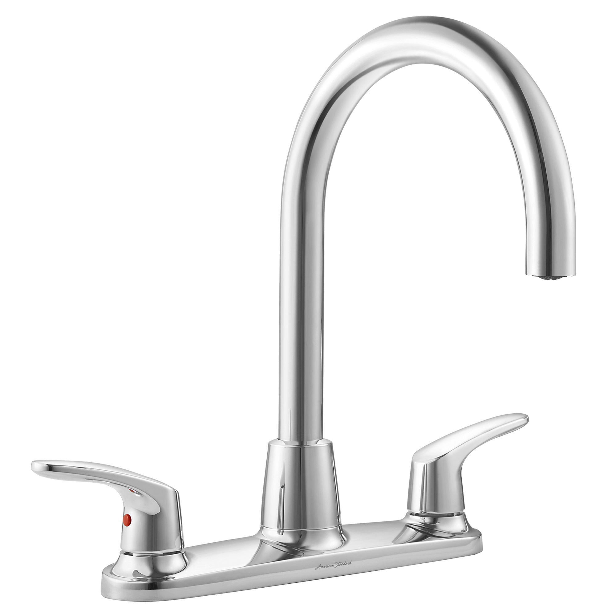 American Standard Colony PRO Two-Handle Kitchen Faucet with High-Arc Swivel  Spout